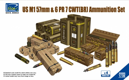 U.S. M1 57mm & 6PR 7cwt (BR) Ammunition Set 070/RE30009