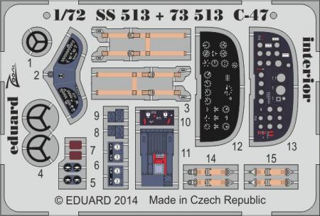C-47 interior S.A. ZOOM (1:72 Airfix)