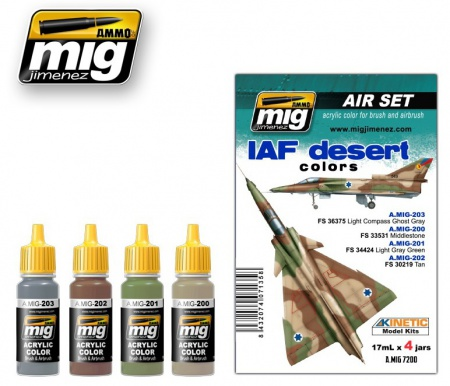 IAF Desert Colors Set 4x17ml 085/A.MIG-7200