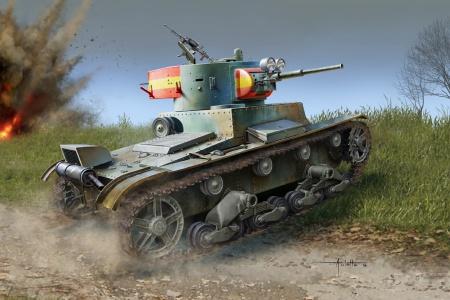 Soviet T-26 Light Infantry Tank Model 1936/1937