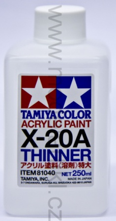 X-20A Acrylic Thinner 250ml 001/81040
