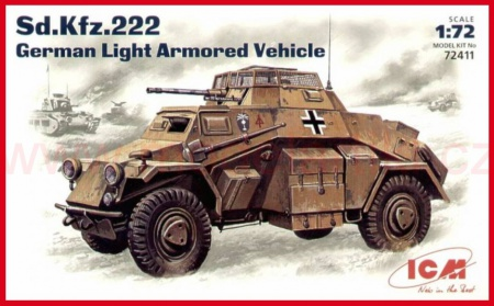 Sd.Kfz. 222 German Light Armoured Vehicle 057/72411