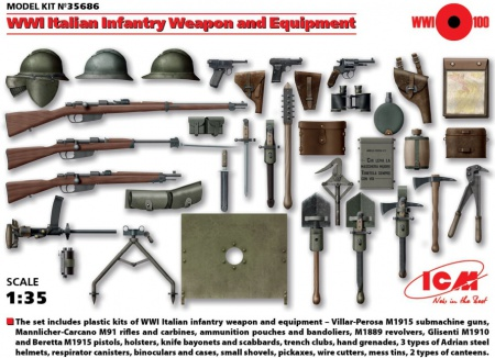 WWI Italian Infantry Weapon and Equipment 057/35686