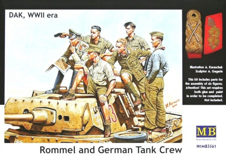 Rommel and German Tank Crew, DAK, WW II era 096/MB3561