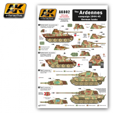 Wet Transfers The Ardennes campaign 1944-45 German tanks 036/AK802