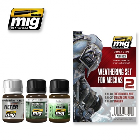 Weathering Set For Mechas 3x35ml 085/A.MIG-7429
