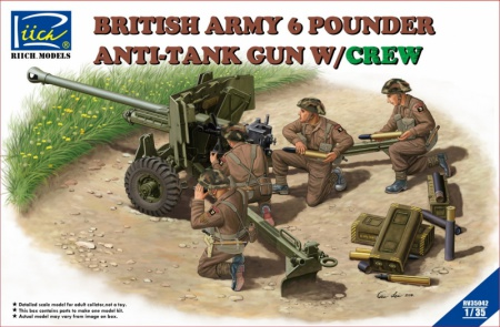 British Army 6 Pounder Infantry Anti-tank Gun w/Crews 070/RV35042