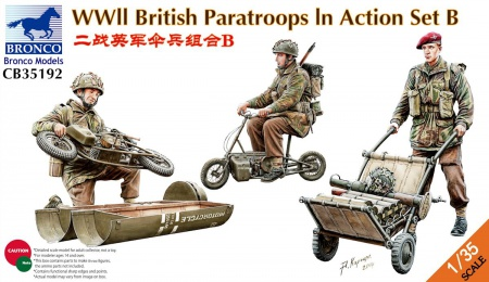 WWII British Paratroops in Action Set B 062/CB35192