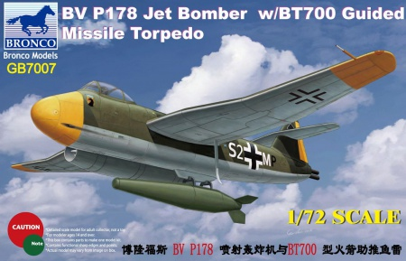 Blohm & Voss P178 Jet Bomber with BT700 Guided Missile Torpedo 062/GB7007