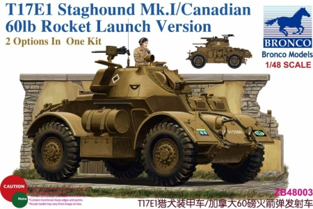 T17E1 Staghound Mk.I / Canadian 60lb Rocket Launch Version 062/ZB48003