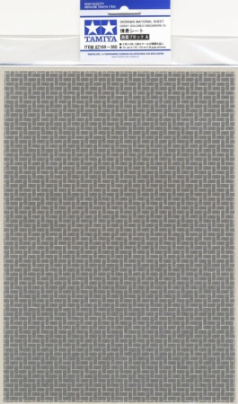 Diorama Material Sheet (Gray-Colored Brickwork A) 001/87169