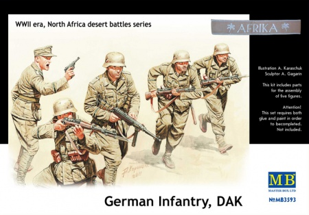 German Infantry, DAK, WWII era, North Africa desert battles series 096/MB3593