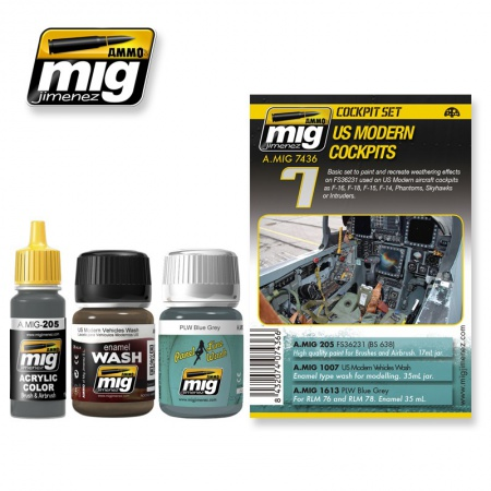US Modern Cockpits Set 2x35ml, 1x17ml 085/A.MIG-7436