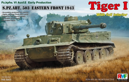 Tiger I Early Production s.Pz.Abt. 503 Eastern Front 1943 (Full Interior) 099/RM-5003