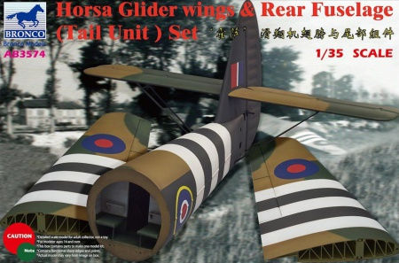 Horsa Glider Wing & Rear Fuselage (Tail Unit) Set 062/AB3574