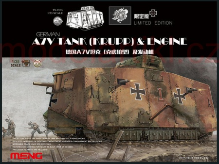 German A7V Tank (Krupp) & Engine (Limited Edition) 061/TS-017S
