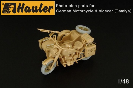 German Motorcycle & sidecar for Tamiya 039/HLX48358