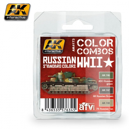 Russian WWII Standard (Color Combo) 3x17ml 036/AK4173