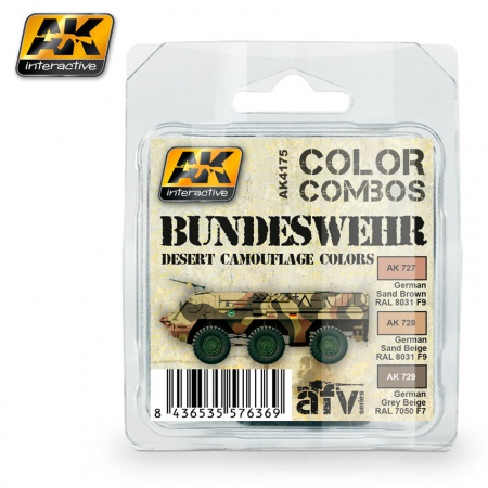 Bundeswehr Desert Camouflage (Color Combo) 3x17ml 036/AK4175
