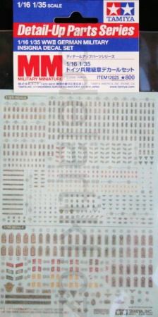 WWII German Military Insignia Decal Set 001/12625