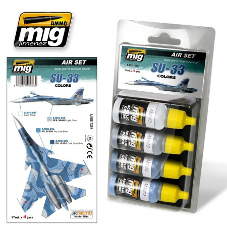 Su-33 Colors Set 4x17ml 085/A.MIG-7208