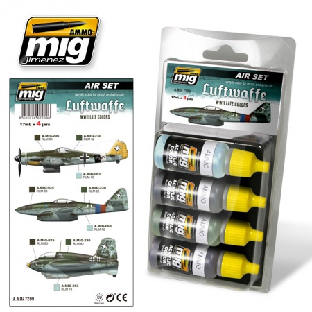 Luftwaffe WWII Late Colors Set 4x17ml 085/A.MIG-7209