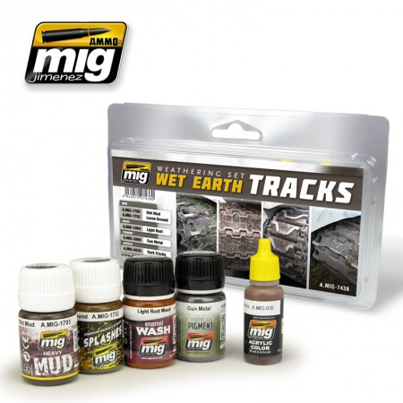 Wet Earth Tracks Set 4x35ml, 1x17ml 085/A.MIG-7438