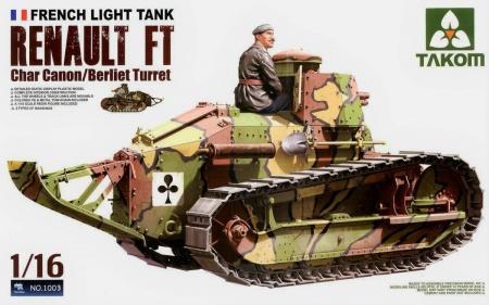 Renault FT Berliet Turret 37mm Gun w/Tank Crew Figure