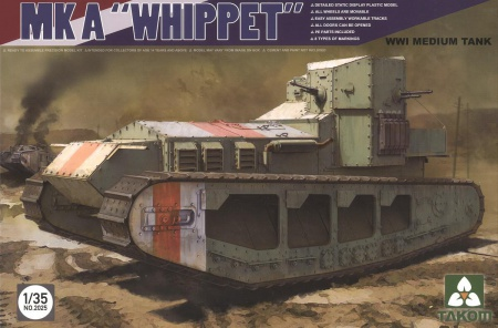 MK A Whippet WWI Medium Tank