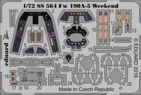 Fw 190A-5 Weekend S.A. ZOOM (1:72 Eduard) 003/SS564