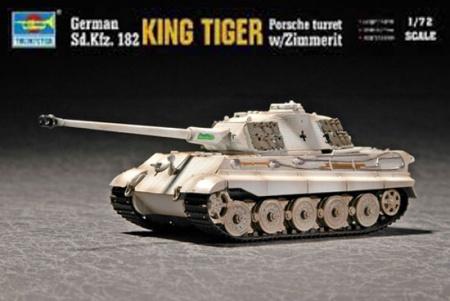 King Tiger Porsche Turret w/Zimmerit