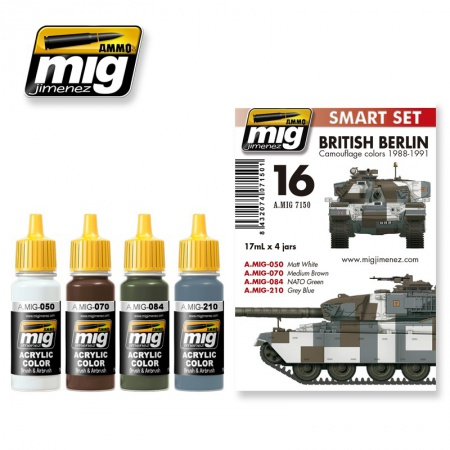 British Berlin Camouflage Colors 1988-1991 Set 4x17ml 085/A.MIG-7150