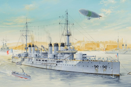 French Navy Pre-Dreadnought Battleship Voltaire 008/86504