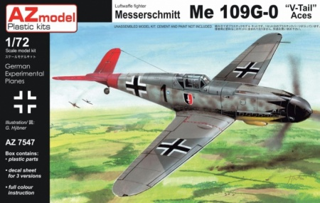 Messerschmitt Bf 109G-0 V-Tail Aces 052/AZ7547