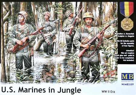 U.S. Marines in Jungle, WWII Era 096/MB3589