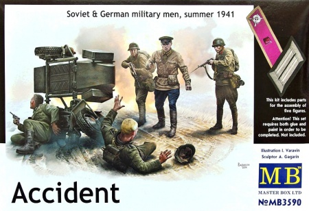 Accident - Soviet & German men, 1941 096/MB3590