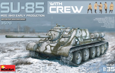 SU-85 Soviet self-propelled gun Mod.1943 Early & Crewmen 089/35178