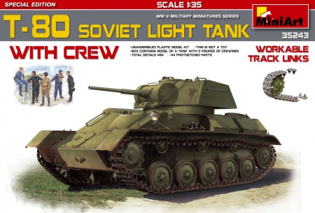 T-80 Sovit  Light  Tank w/Crew. (Special Edition) 089/35243