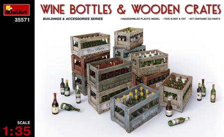 Wine Bottles & Wooden Crates 089/35571
