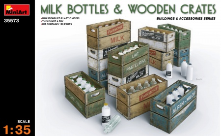 Milk Bottles & Wooden Crates 089/35573
