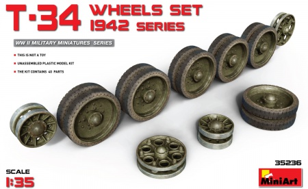 T-34 Wheels Set. 1942 Series 089/35236