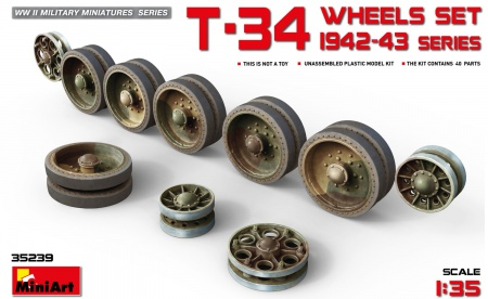 T-34 Wheels Set. 1942-43 Series 089/35239