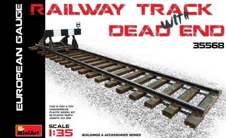 Railway Track w/ Dead End European Gauge 089/35568