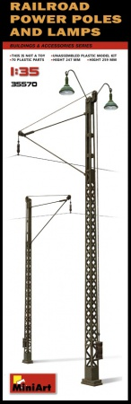 Railroad Power Poles & Lamps 089/35570