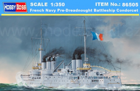 French Navy Pre-Dreadnought Battleship Condorcet 008/86505