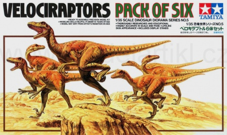 Velociraptors Pack Of Six (reedice) 001/60105