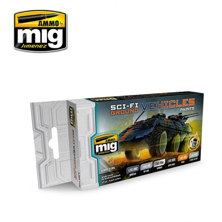 SCI-FI Ground Vehicles Colors 6x17ml 085/A.MIG-7155