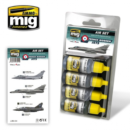 French Modern Jets Colors Set 4x17ml 085/A.MIG-7211