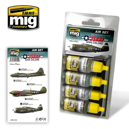 USAAF WWII Colors Set 4x17ml 085/A.MIG-7212