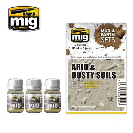 Arid & Dusty Soils Set 3x35ml 085/A.MIG-7440